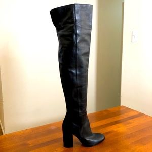 GIANVITO ROSSI | Black leather over the knee boot